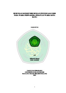 Hubungan Konsep Diri Dengan Penyesuaian Diri Pada Waria Perwakoba Persatuan Waria Kota Batu Etheses Of Maulana Malik Ibrahim State Islamic University